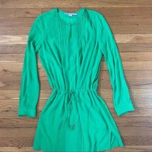 Diane Von Furstenberg green shirt dress